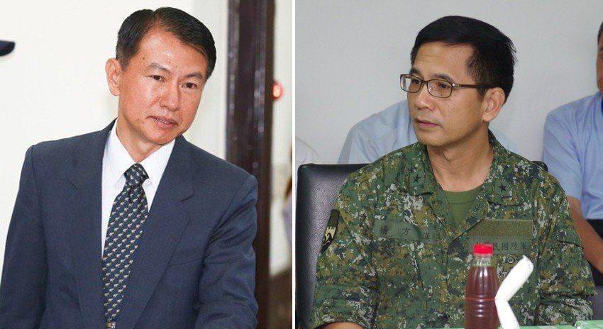 左為少將沈威志、右為少將楊方漢。 本報資料照片