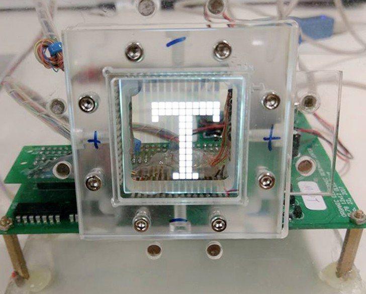 明志科大有機電子研究中心與國內知名OLED面板廠商智晶光電合作之透明顯示面板。 ...