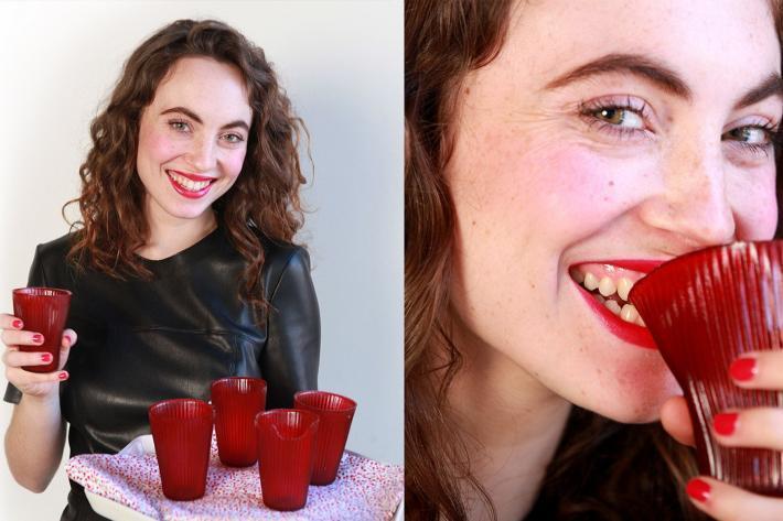 LOLIWARE在2015年時推出第一個產品「可以吃的杯子」。圖/LOLIWAR...