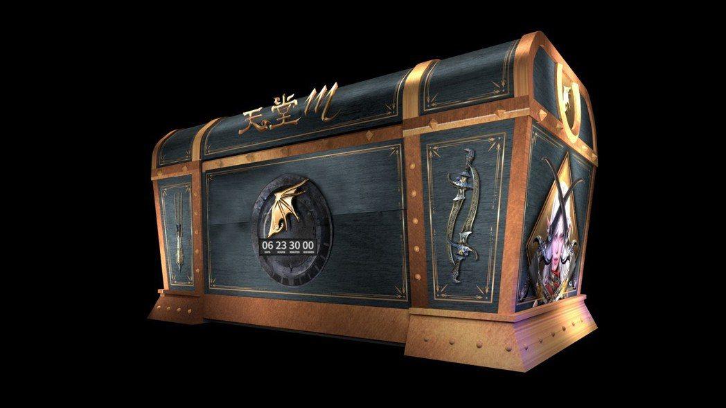 《天堂M》自6月13日起於三創生活園區設置了寬度近12米的神祕巨型寶箱,每天晚上...