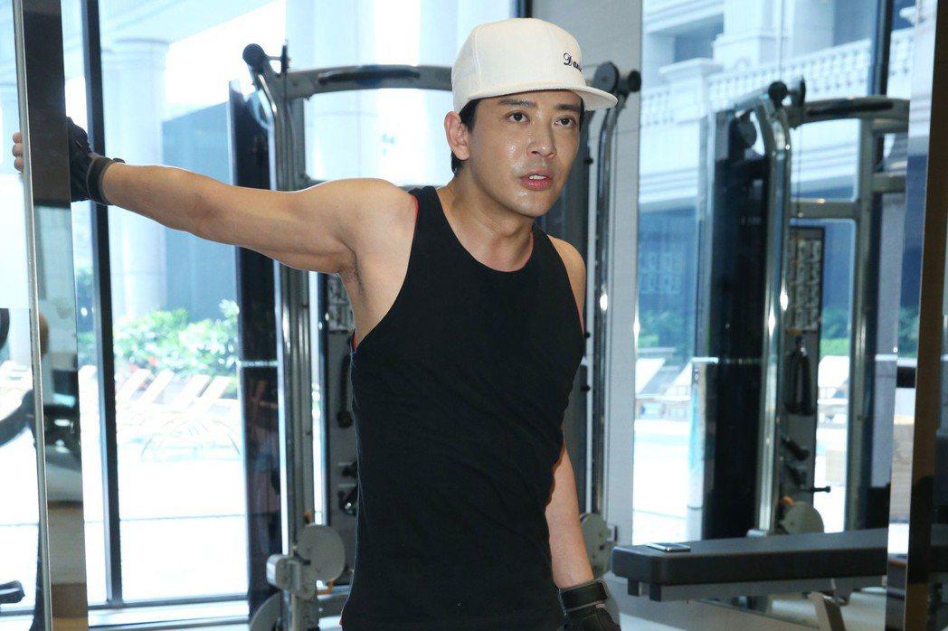 港星陳曉東專訪,健身房專題照。記者林俊良/攝影