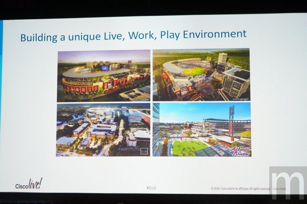 亞特蘭大勇士隊總監Greg Gatti分享目前著手建造的新球場設施將如何藉由連網...