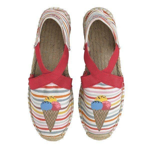 冰淇淋草編鞋,1,680元。圖/Cath Kidston提供