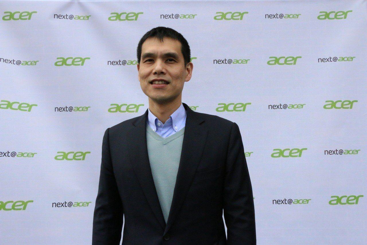 施宣輝挑大樑,宏碁第2隻小金雞安碁資訊申報IPO昨日生效。 記者曾仁凱/攝影