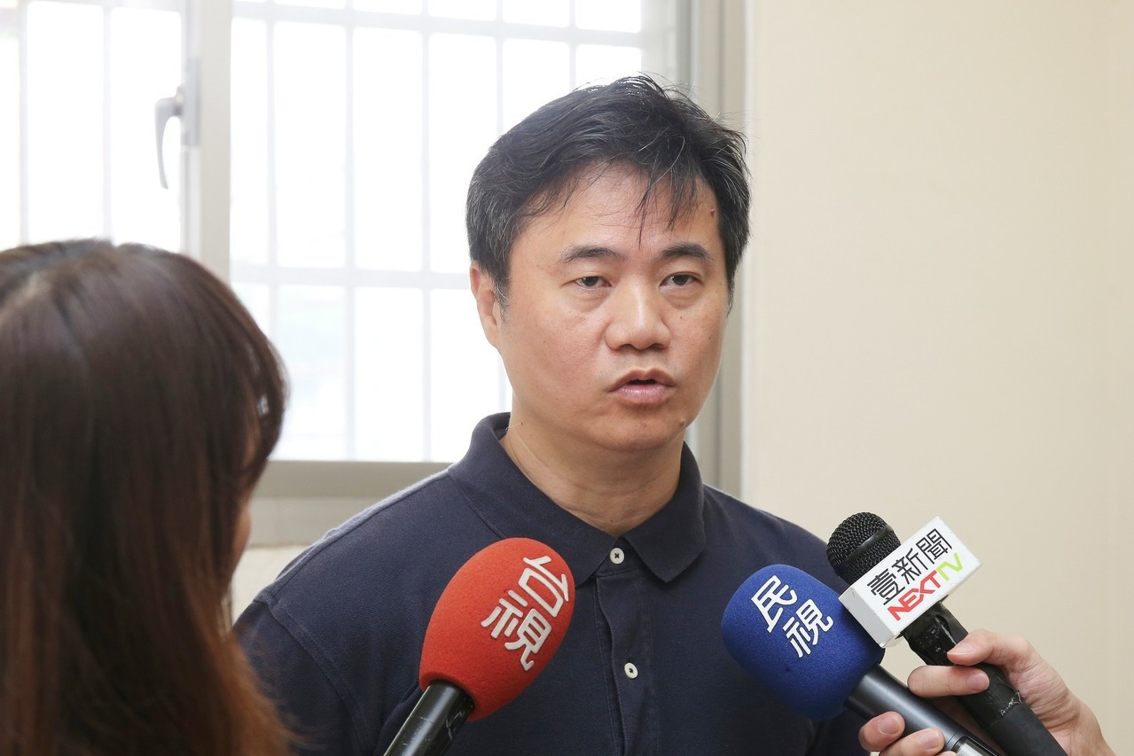 大同高中羽球隊總教練蕭博仁澄清不實報導。 記者曾思儒/攝影