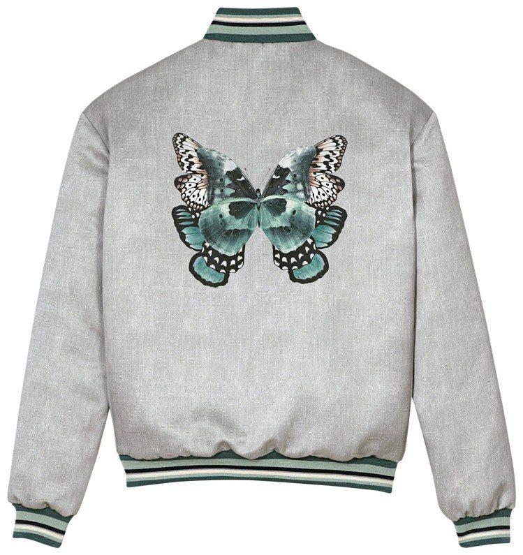 秋季蝶色夾克(背面圖),售價22,200元。圖/LONGCHAMP提供