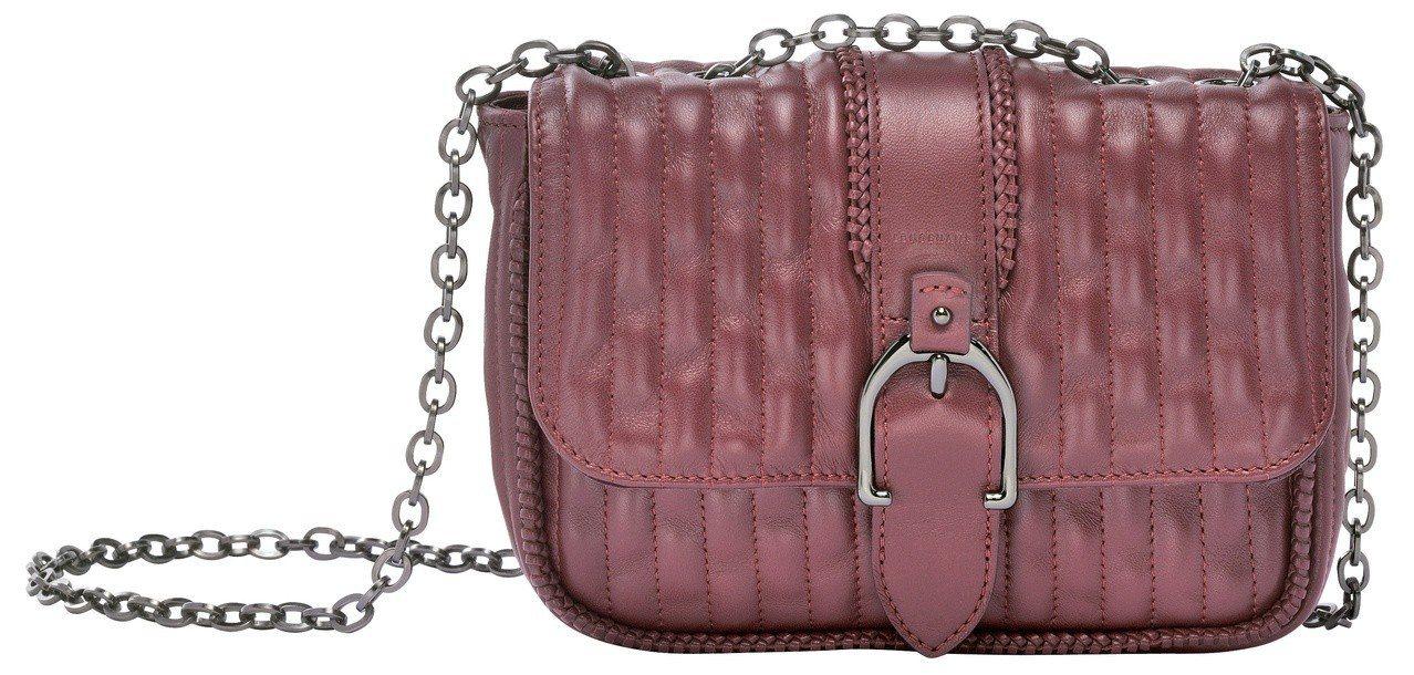 Amazone Matelasse酒紅色肩背包,售價31,100元。圖/LONG...