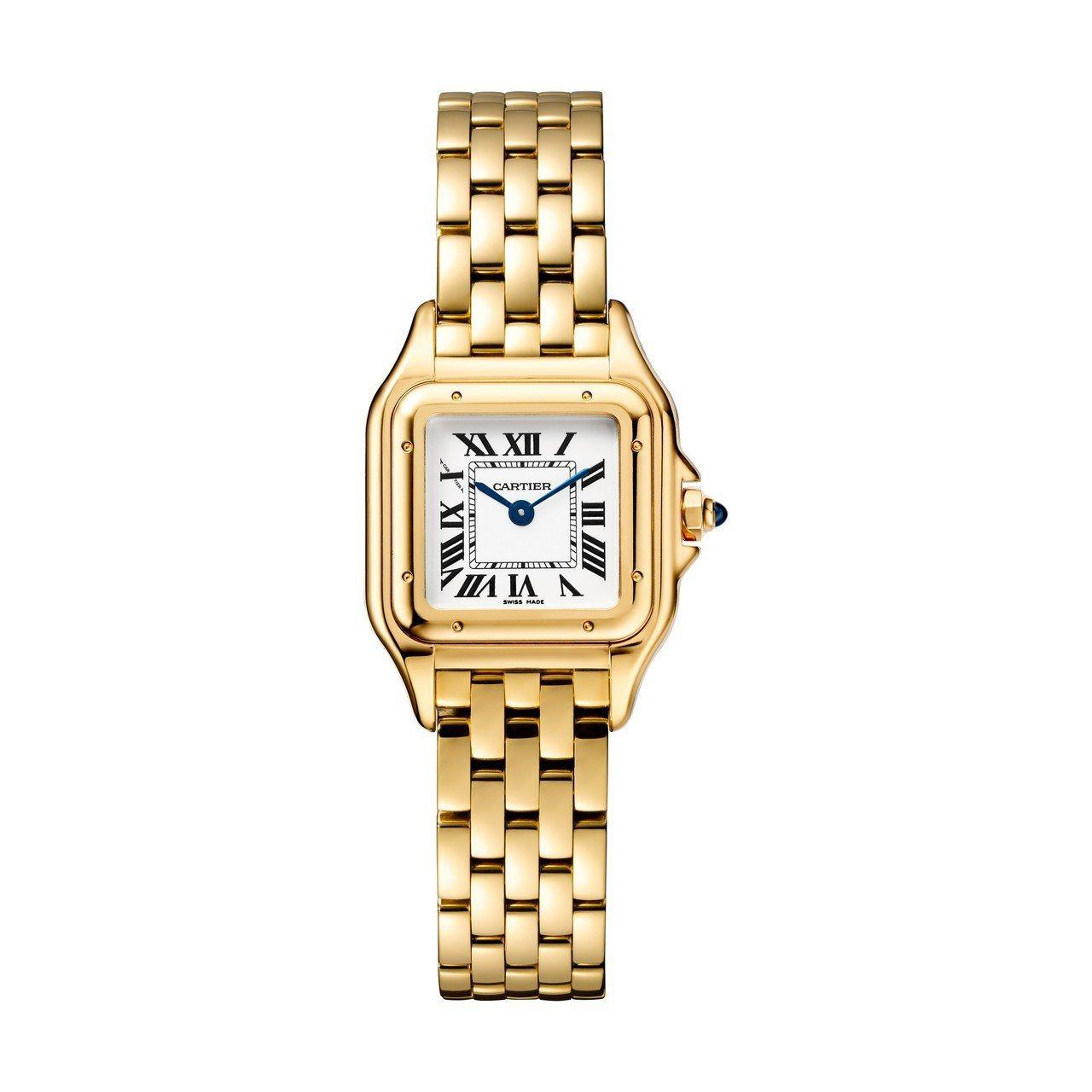 Panthère de Cartier美洲豹黃K金腕表,小型款,黃K金表殼、錶鍊...