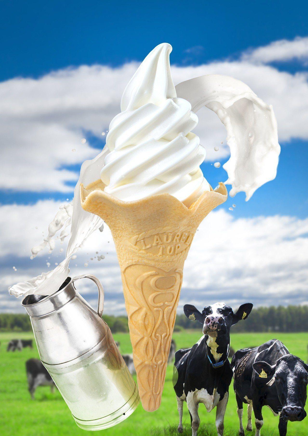 經典北海道生乳原味霜淇淋90元。圖/冰淇淋之家提供