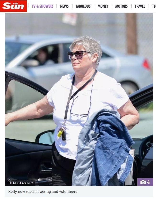 「太陽報」報導,「捍衛戰士」女主角凱莉麥克姬莉絲身材早已走樣。圖/摘自太陽報