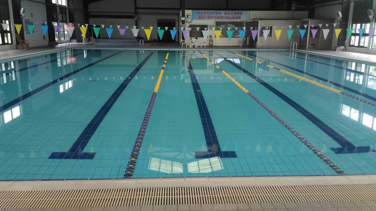 大林鎮立游泳池開幕了。圖/大林鄉鎮公所提供