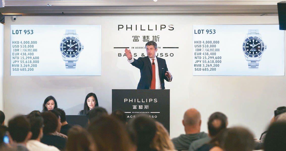 富藝斯今年上半年於香港舉辦的第6場鐘表拍賣,最高價的10件拍品中就有3件為「保羅...