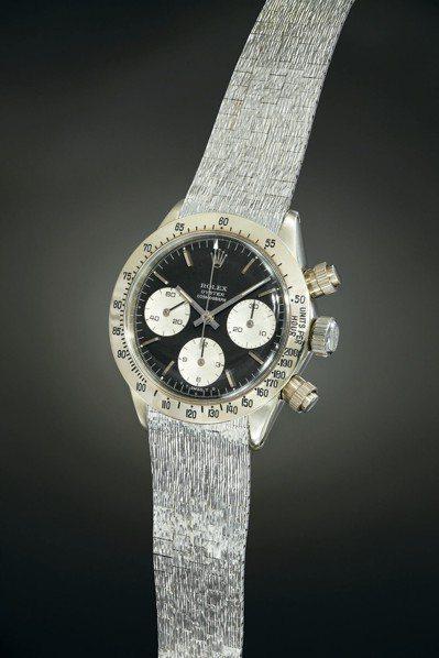 富藝斯日內瓦的「極致迪通拿」專場拍賣,暱稱「獨角獸」的這枚勞力士迪通拿腕表,以1...