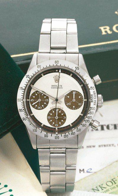 1969年製型號6239勞力士「保羅紐曼款」迪通拿腕表,於蘇富比日內瓦春拍上,以...