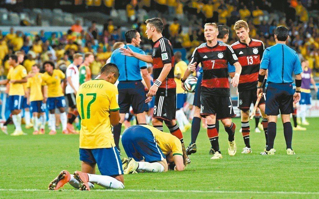 上屆世足巴西慘敗給德國,無緣冠軍夢。 (美聯社)