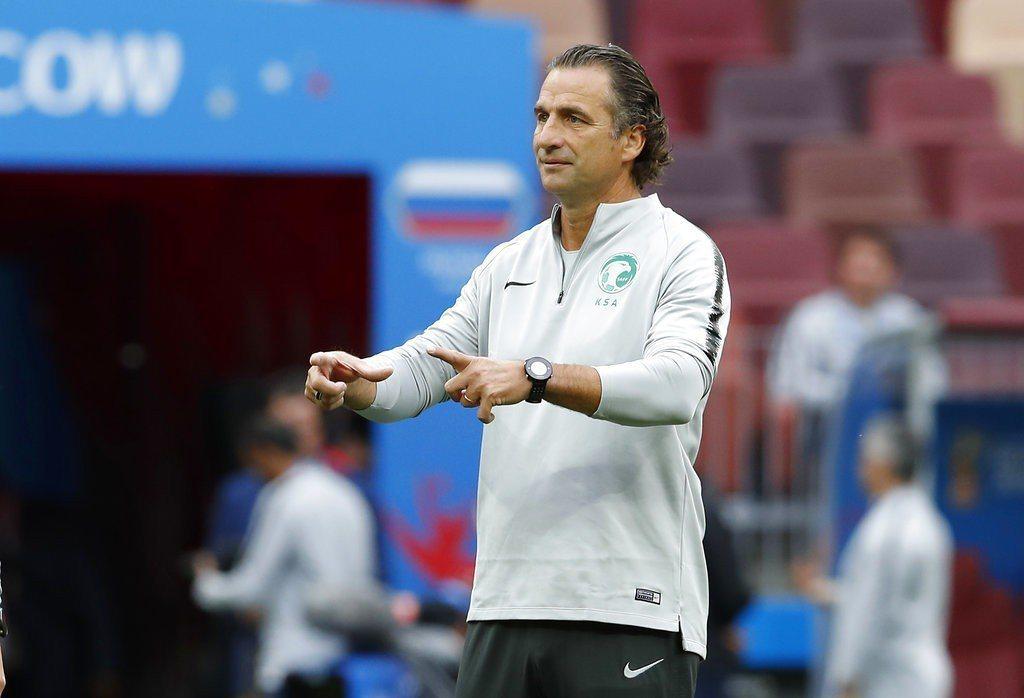 沙烏地阿拉伯總教練皮濟是首度帶隊進軍世足賽。 美聯社