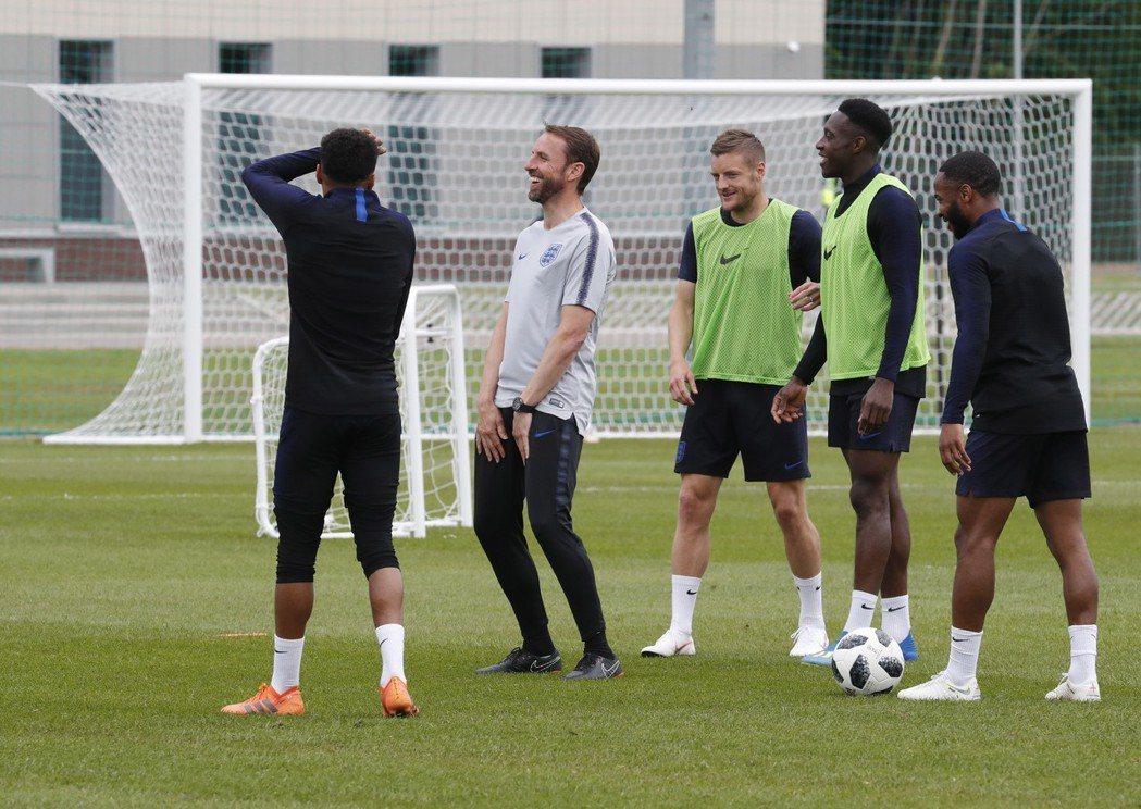 英格蘭開心迎接世界盃。 歐新社