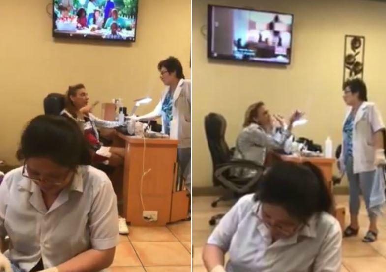 一名白人女子日前在佛羅里達州盧茨一家美甲店裡發表充滿種族歧視的惡毒言論。圖/取自...