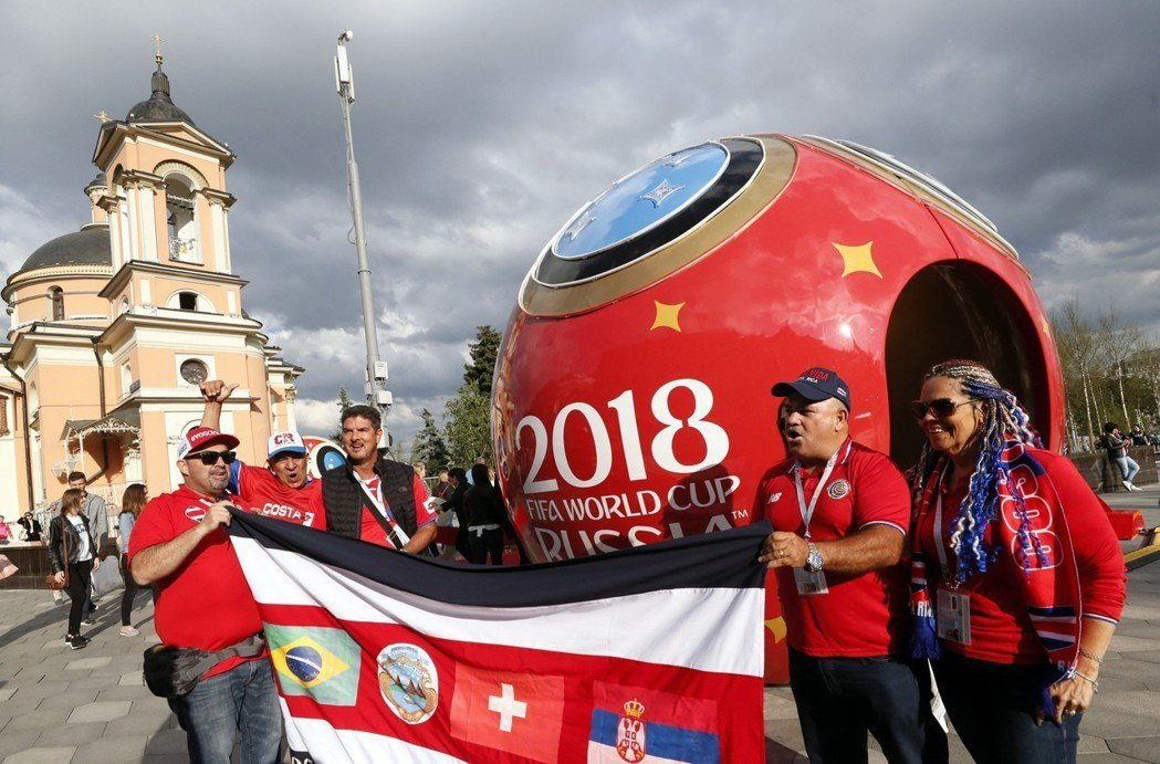 2018俄羅斯世界盃即將開踢。 歐新社