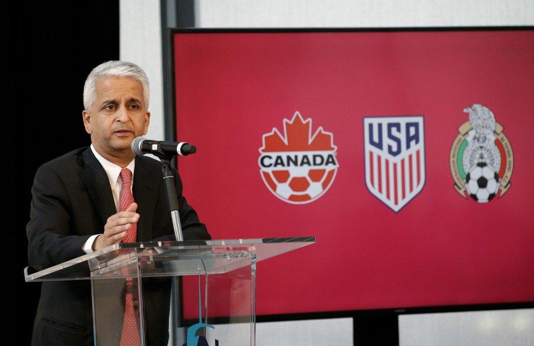 2026年世界盃由美國、加拿大和墨西哥聯合舉辦,同時將擴軍為48隊參賽。 美聯社
