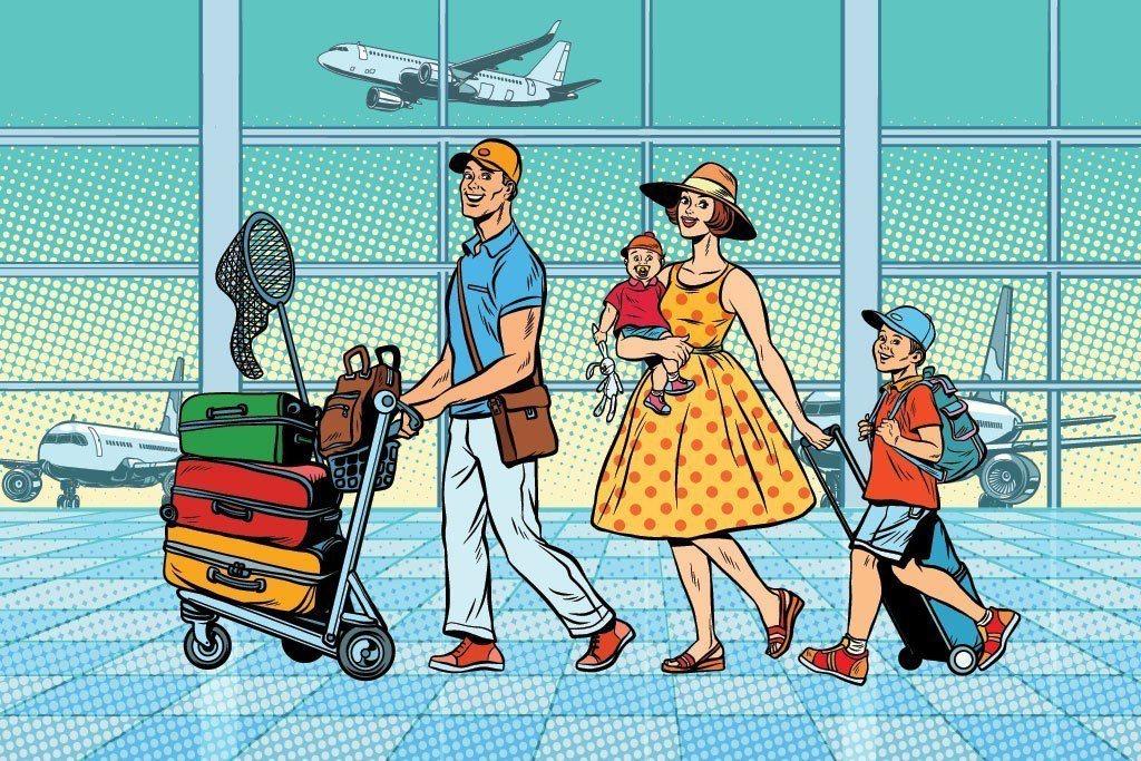 家族旅遊示意圖。圖/Ingimage