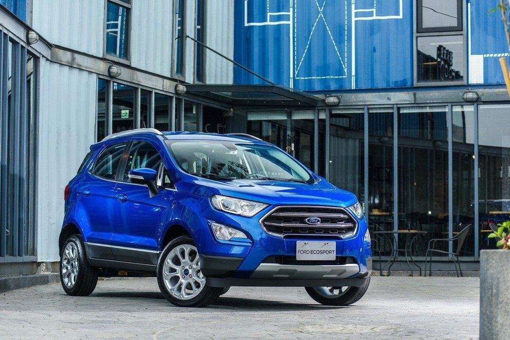 Ford EcoSport 動勁智能輕休旅,全新搭載EcoBoost渦輪增壓綠能引擎。 圖/福特六和提供