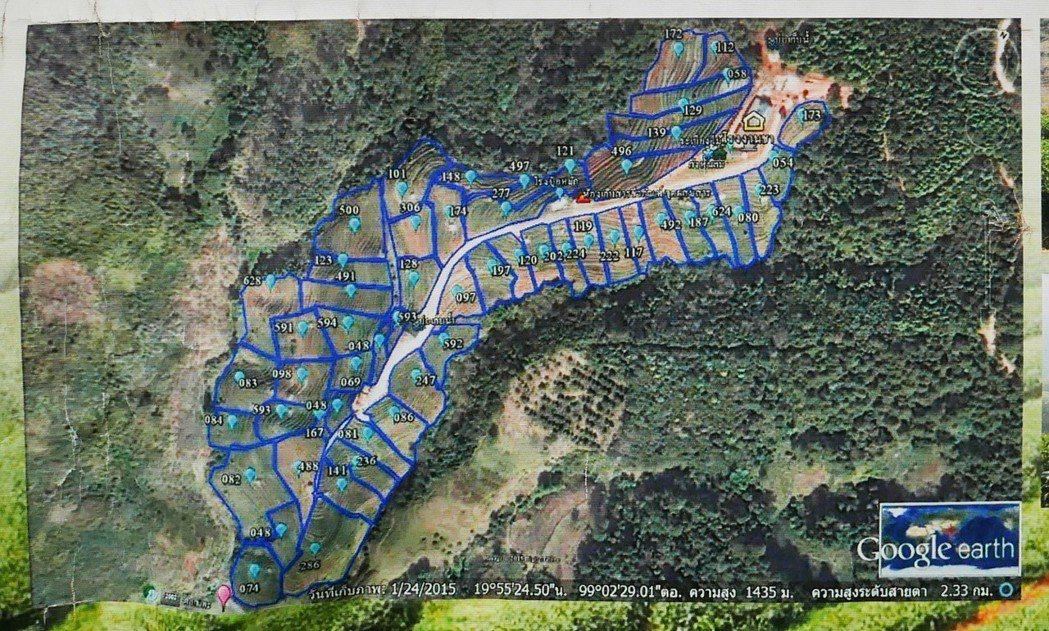少數民族耕地面積極其有限,每戶僅有一萊(ไร่,1,600平方公尺,約4個標準籃...