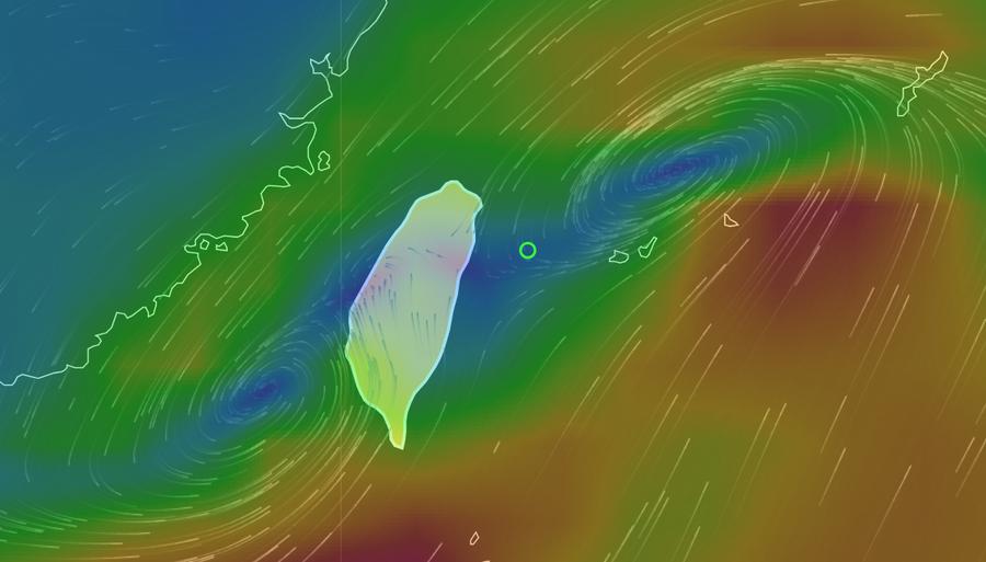 台灣西南方形成的熱帶型低氣壓可能增強為輕度颱風,盡早做好不排除發布海上、陸上颱風...