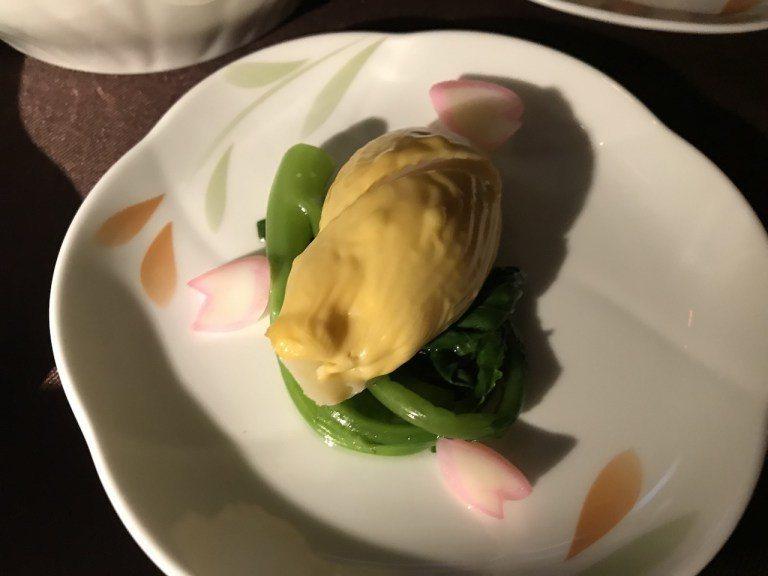 第二個配菜,兩個配菜雖然分量上略嫌寒酸,但是滋味真的都很好,蔬食的設計也挺適合剛...