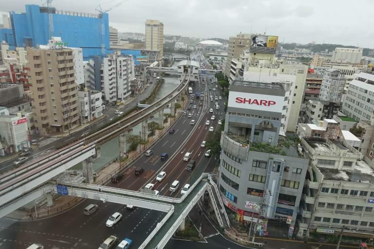 從房間看出來的風景,已經可以看到旭橋站囉 圖文來自於:TripPlus