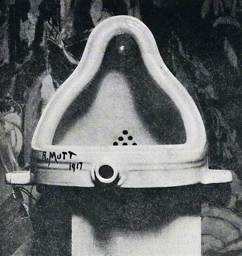 噴泉 (杜象, 1917) (圖片取自 Wikimedia Commons)