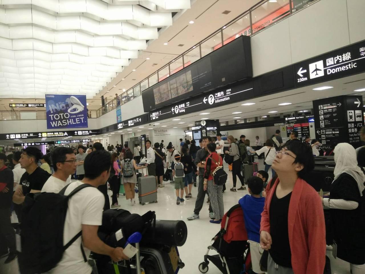 成田機場是日本首都機場,航線滿載,台中爭取直航長達4年。記者張明慧/攝影