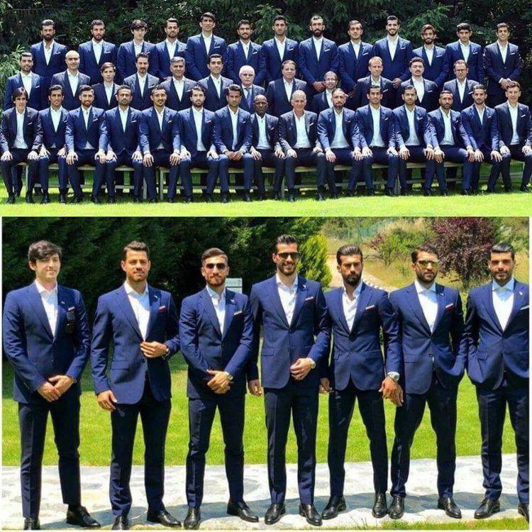 伊朗隊正裝照掀起熱議。圖/摘自twitter
