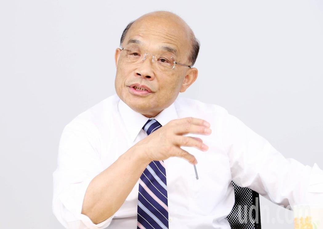 民進黨新北市長參選人蘇貞昌上午接受聯合報系專訪。記者杜建重/攝影