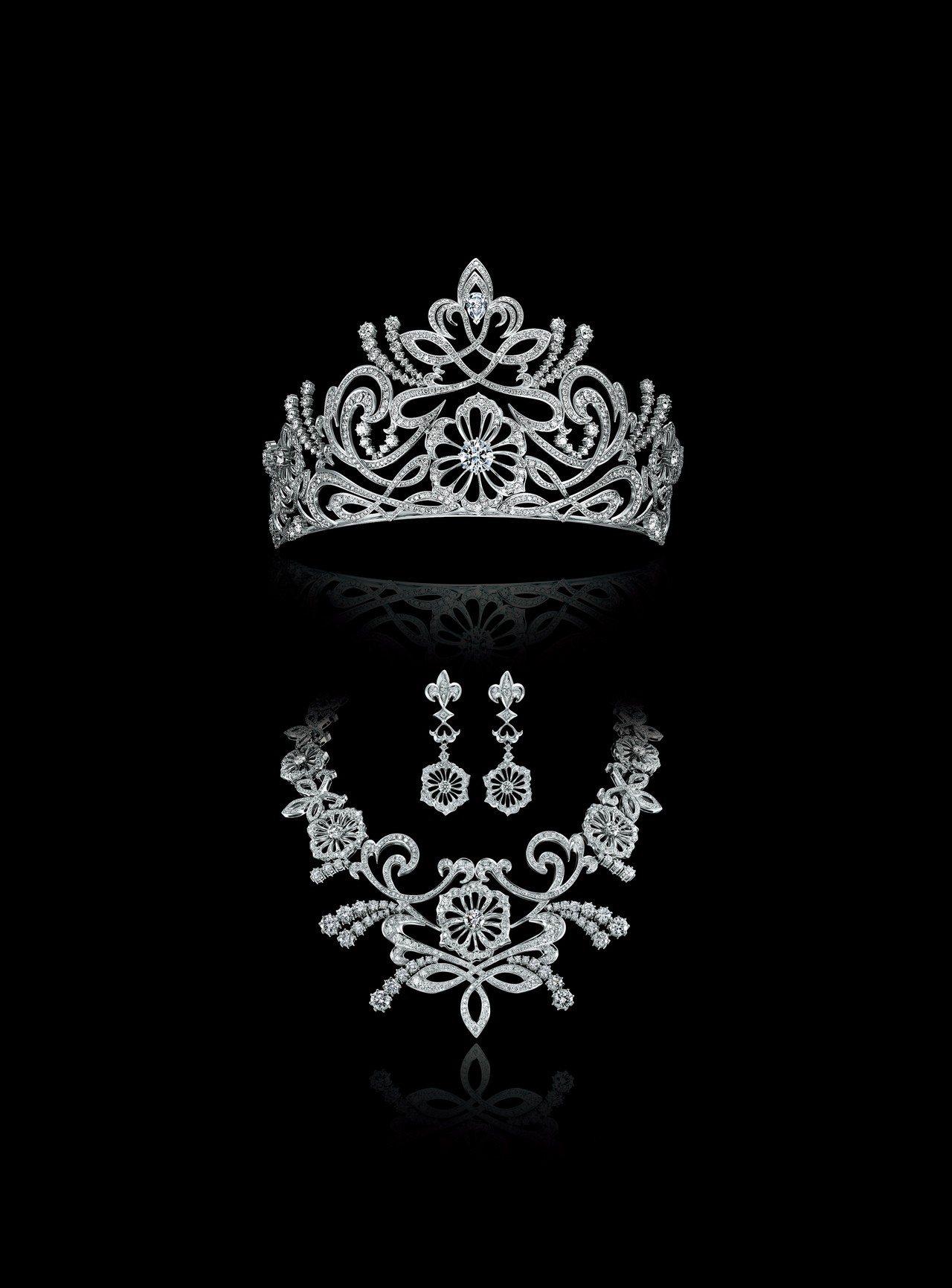 銀座白石特地將訂價超過1億3,000萬元的「Shangrilla皇冠組合」運送來...