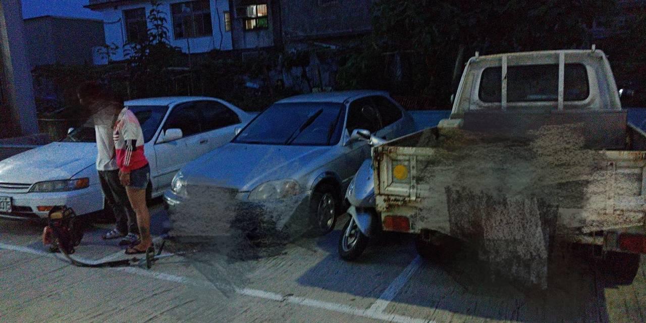 警方指出,葉男偷了三台汽車與一輛機車,全案坦承不諱。圖/警方提供