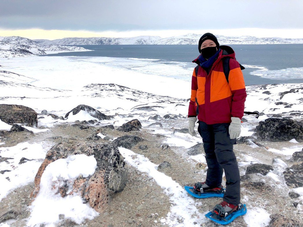 TVBS國際特派員林宏宜在北極採訪。圖/TVBS提供