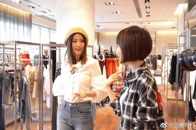 陳慧琳近日接受大陸訪談節目「魯豫有約一日行」訪問。圖/摘自微博