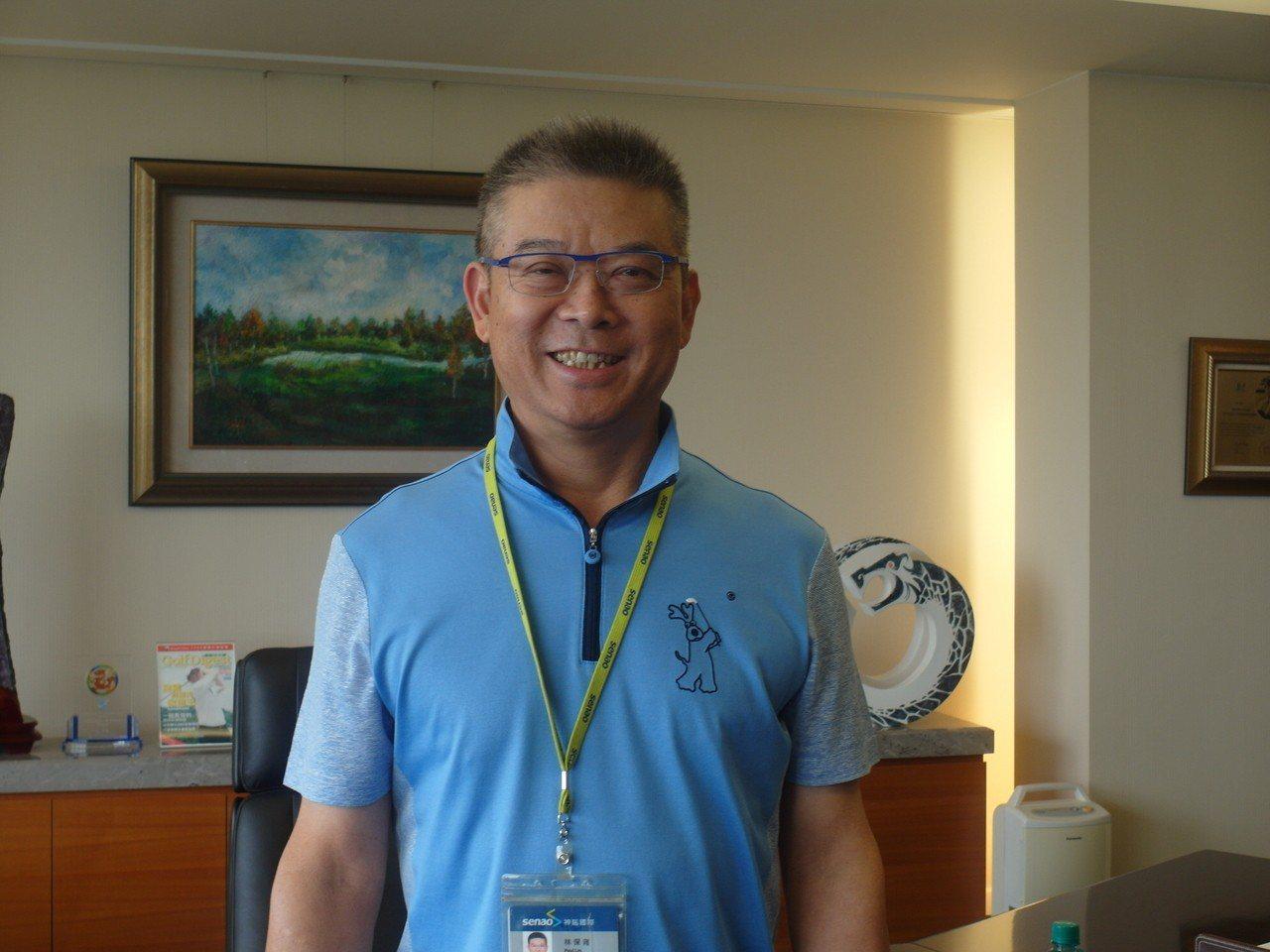 神腦集團總裁林保雍。 記者何佩儒/攝影