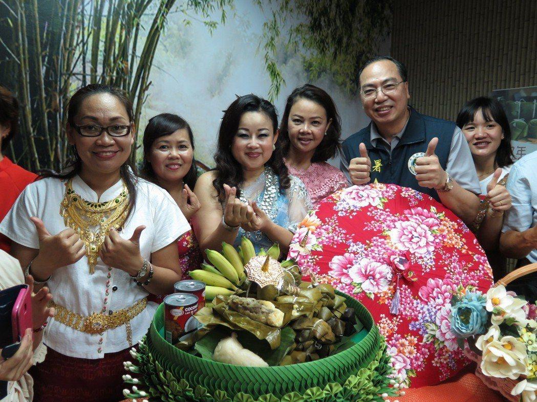 泰國的粽子也分為鹹粽與鹼粽,有濃濃泰國風味。記者張裕珍/攝影