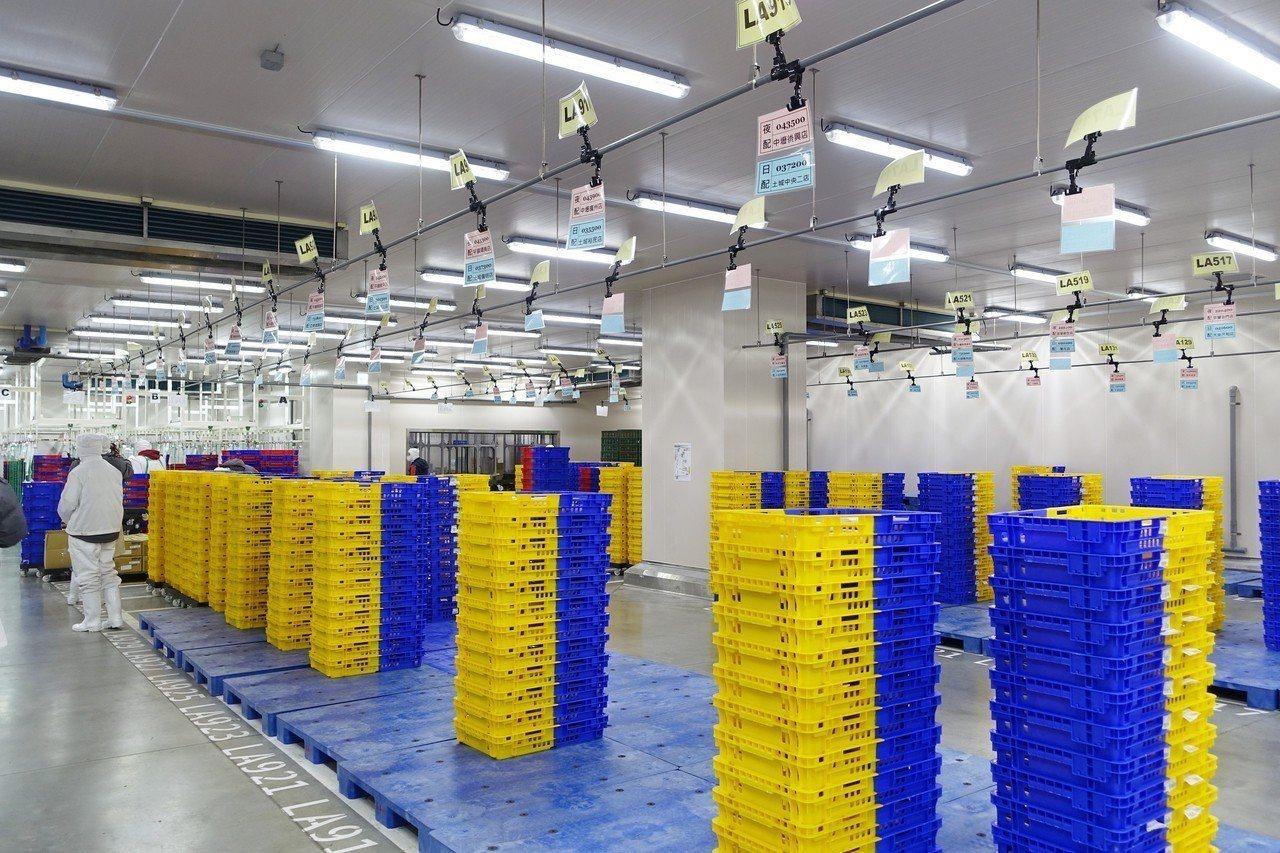 五股PC廠出貨暫存區,全區維持0℃。記者沈佩臻/攝影
