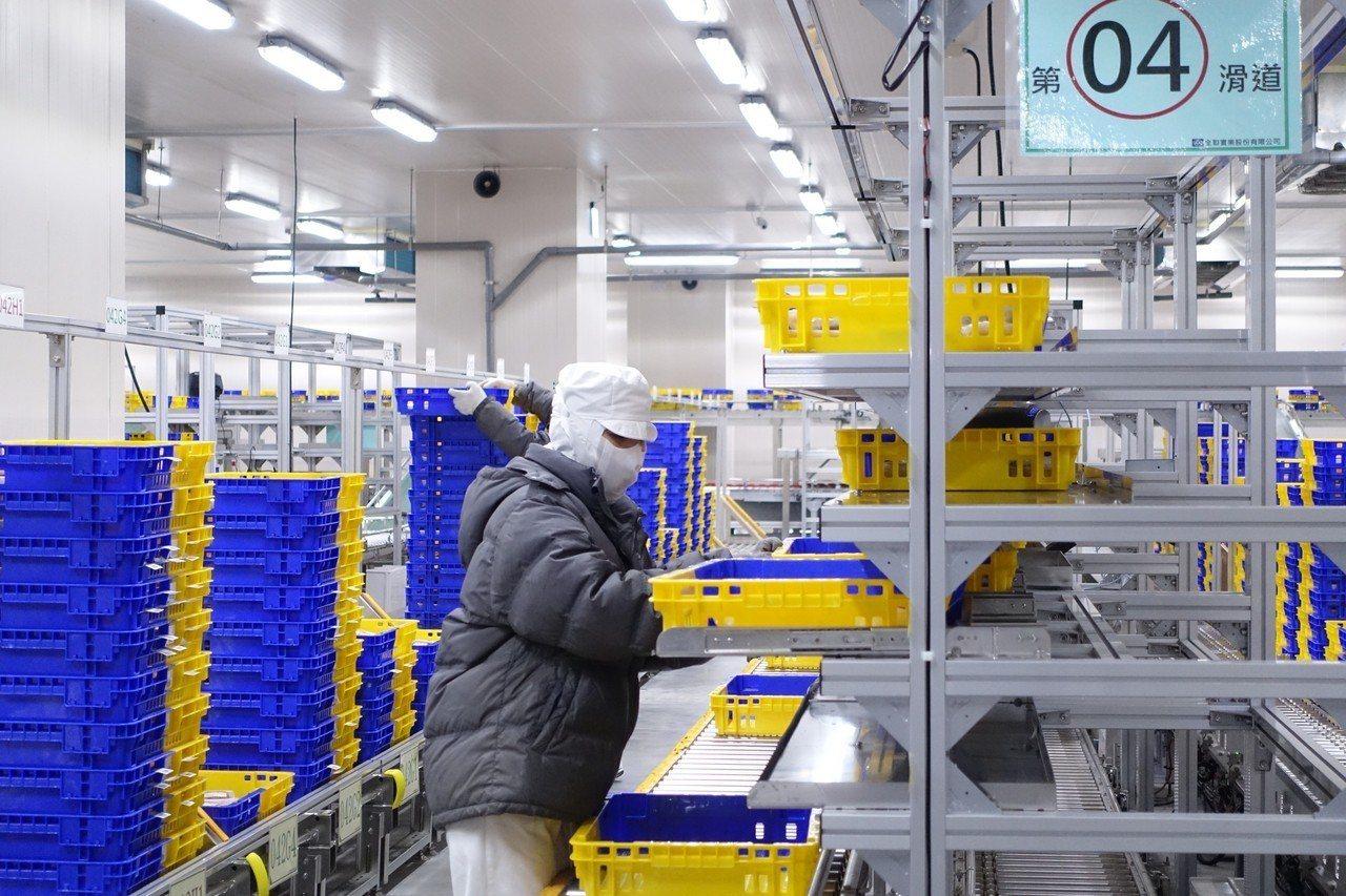 全聯五股PC廠導入規模最大生鮮SORTER自動化系統,每小時可處理6,000籃。...