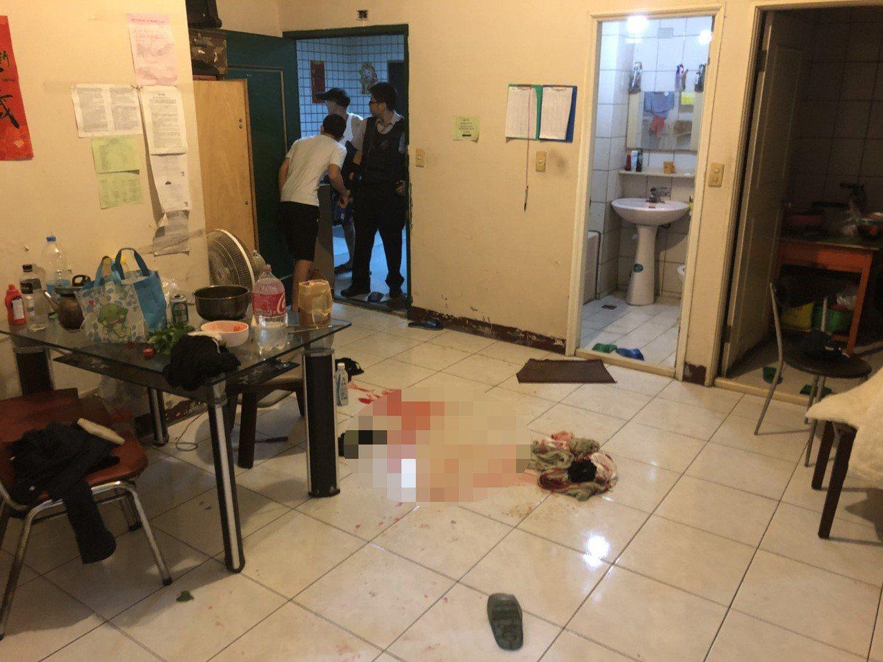 桃園市蘆竹區3日晚間發生兇殺案,一名23歲阮姓越南籍移工為了爭執一塊豬肉屬誰,持...