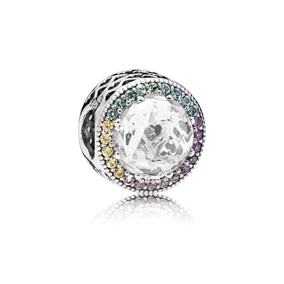 PANDORA 彩虹光暈 925 銀鋯石串飾 ,3,380元。圖/PANDORA...