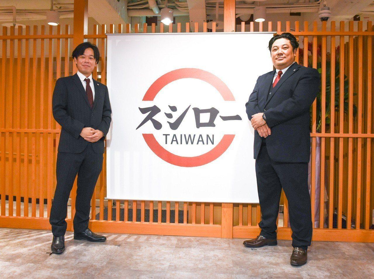 台灣壽司郎總經理加藤広慎(右)、副總經理松田一成(左)。圖/壽司郎提供