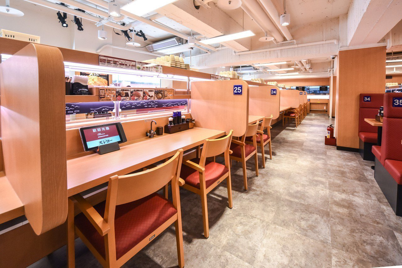 店內提供雙人、單人座位。圖/壽司郎提供