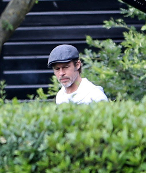 布萊德彼特被拍到人在倫敦,有可能抽空會與孩子們見面。圖/達志影像