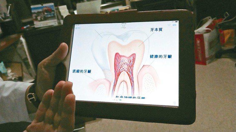 高市阮綜合醫院牙醫部主任蔡政峰說,當外層琺瑯質被磨掉露出牙本質,因貼近牙髓所在的...