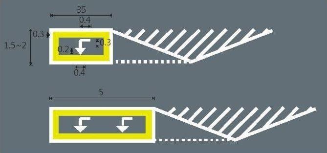 桃園市政府交通局今年下半年起,將首創在待轉區試辦畫設黃框與箭頭,避免汽車誤停霸占...