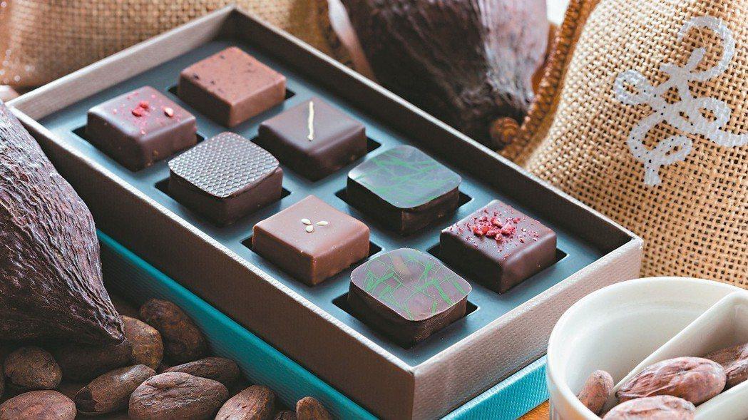 法朋二店台灣六味巧克力。